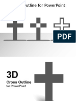 3003 Simple Cross Outline Template