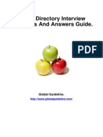 Active Directory Job Interview Preparation Guide
