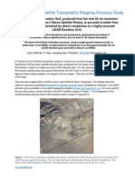 Highly Accurate Satellite Topographic Mapping Accuracy Study