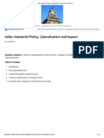 India_ Industrial Policy, Liberalization and Impact - InSIGHTS