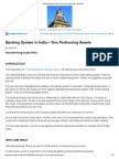 Banking System in India – Non Performing Assets - InSIGHTS