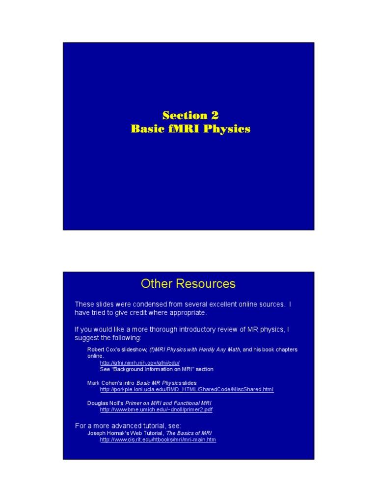 The Basics Of Mri Joseph Hornak Pdf