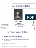 Luis E. Loria - La tercera muerte de Colón - 18-viii-10 - CONFIES