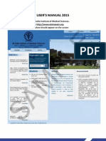 AIIMS User Manual
