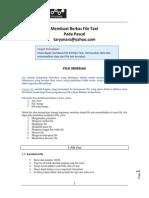 Membuat Berkas File Text Pada Pascal