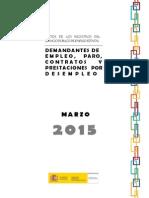 Datos Paro Registrado Marzo 2015