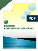 Pedoman Penulisan Artikel Jurnal