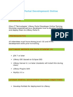 Liferay Portal Development Online Training