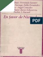 (Varios) en Favor de Nietzsche