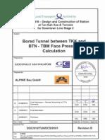TBM Face Pressure Calculation