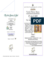2015 - 19 April - Tone 1 - 2 Pascha -St Thomas - Hymns Only