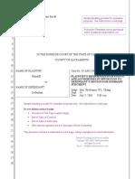 Sample Pleading Provided by CalPleadings
