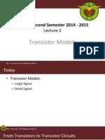 Lecture 02 Transistor Models