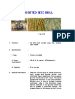 Air Assisted Seed Drill