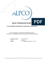Testosterone Elisa Procedure and Kit