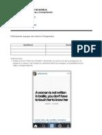 Práctica - tema para el desarrollo de un protocolo de carácter formativo