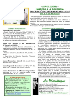 Ingreso Docencia 2015 (CABA)