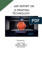 Seminar Report on 3D printing