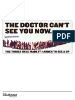 The Doctor Can't See You Now - Tory GP Failure