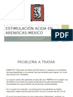 Estimulacion ácida en areniscas en mexico