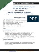 Civil Engineering Internship_Course Structure