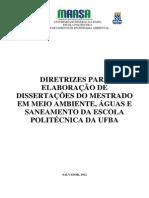 Diretrizes Para Elaboração Da Dissertação MAASA