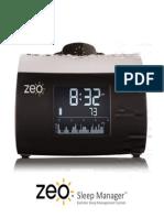 Zeo Sleep Manager Bedside User Guide