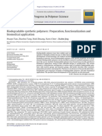 Biodegradable Synthetic Polymers Preparation, Functionalization and Application