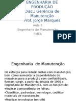 Manutenção - Aula 8 e 9 - Eng. Manutenção - FMEA