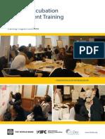 Brochure Infodev Incubation Training Nov13