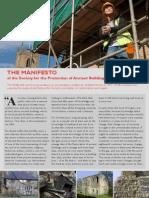 The SPAB Manifesto