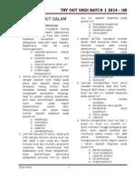 Kumpulan Soal to UKDI Batch 1 UB 2014