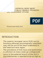 Superior Laryngeal Nerve Injury
