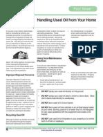 Handling Used Oil