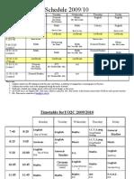 Y02 Schedules 2009 D
