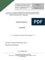 Diseño de Mezclas - F'c= 100 Tipo IP