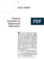 Sudnow 1972 Temporal Parameters of Interpersonal Observation