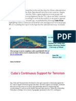 Cuba's Support for Terrorism