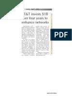 ATT - Tahlequah Daily Press - capex