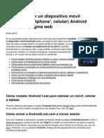 Como Localizar Un Dispositivo Movil Tableta Smartphone Celular Android Desde Una Pagina Web 6724 Niwbvk