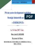 0151Stratégie Industrielle Au Maroc «EMERGENCE»
