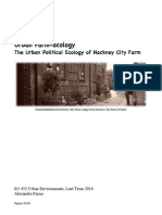 Urban Farm Acology the Urban Political Ecology of Hackney City Farm