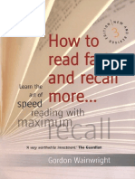 How to Read Faster and Recall