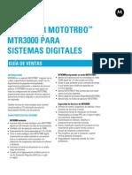 Motorola Mtr3000 Mototrbo Repeater Sales Guide Es 111810