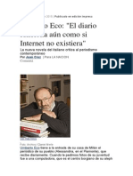 Eco- Diario vs Internet
