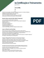 Conteúdo Programático - Oracle 11g - Introduction to SQL