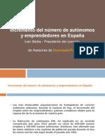 Incremento Del Numero de Autonomos y Emprendedores en España