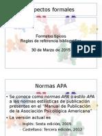 Aspectos formales de la escritura científica en psicología