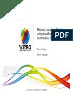Memory Leaks Identification Using LoadRunner Performance Testing Tool