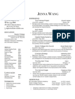 Jenna Wang - Resume